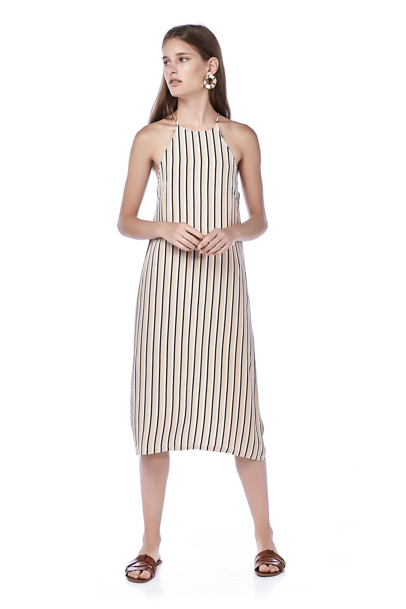 Siano Racer-Neck Midi Dress