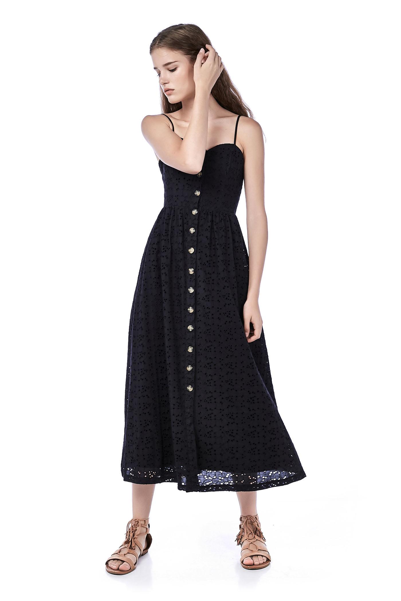 Carlisa Eyelet Maxi Dress