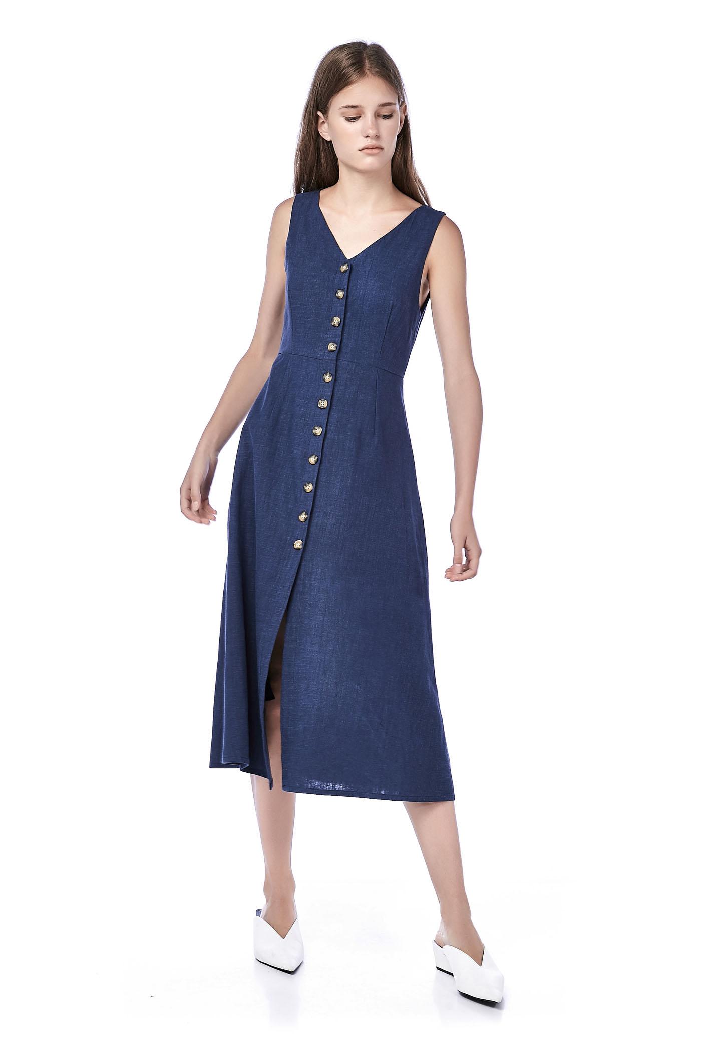 Beulla Button-through Maxi Dress