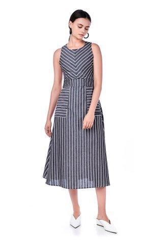 Helya Mix-stripe Dress