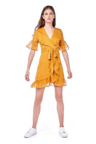 Katelyn Overlap Ruffle Dress