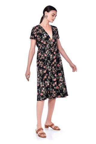 Corina V-neck Midi Dress