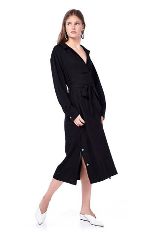 Miko Collared Maxi Dress