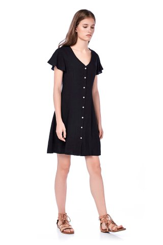 Lolida Ruffle-Sleeve Dress