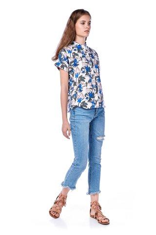 Gaea Stand Collar Shirt