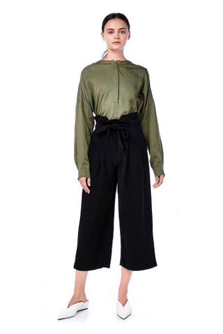 Moina Stand-Collar Blouse