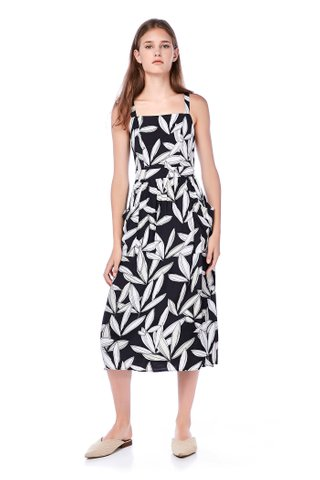 Ritchell Cross-Back Midi Dress