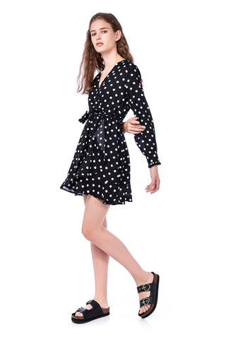Martina Overlap Ruffle Dress