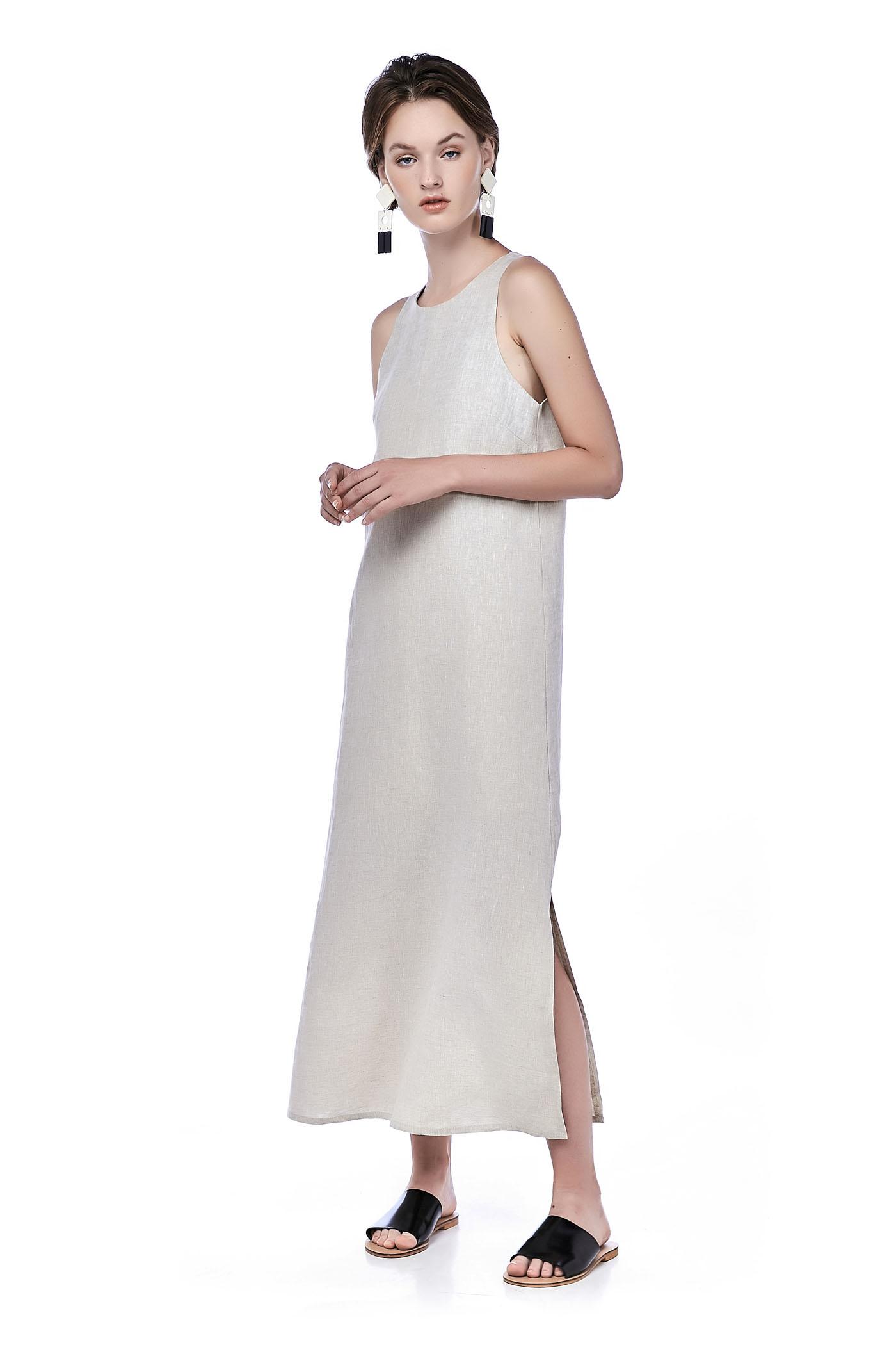 Jandise Linen Maxi Dress