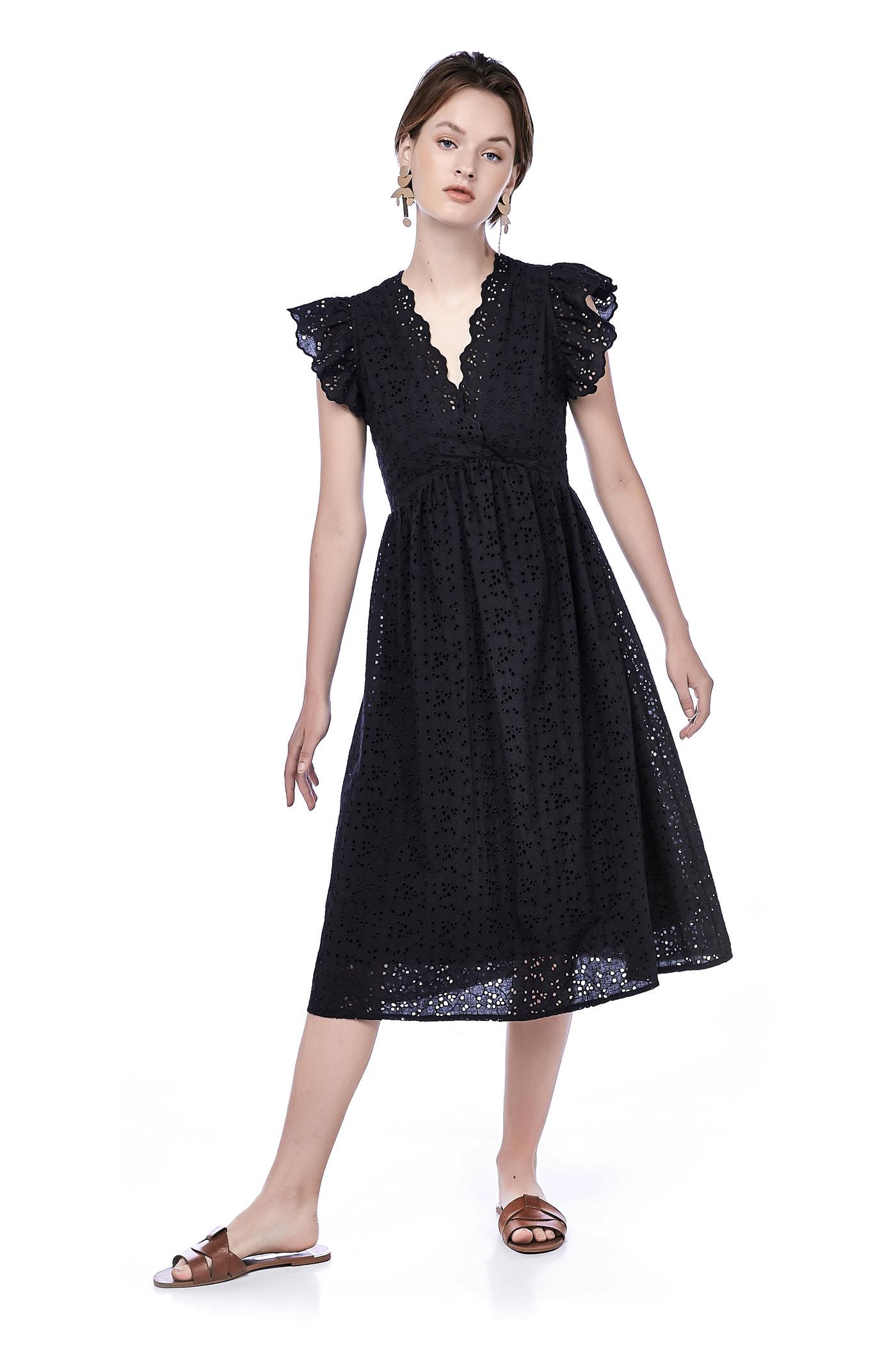 Sharon Broderie Midi Dress