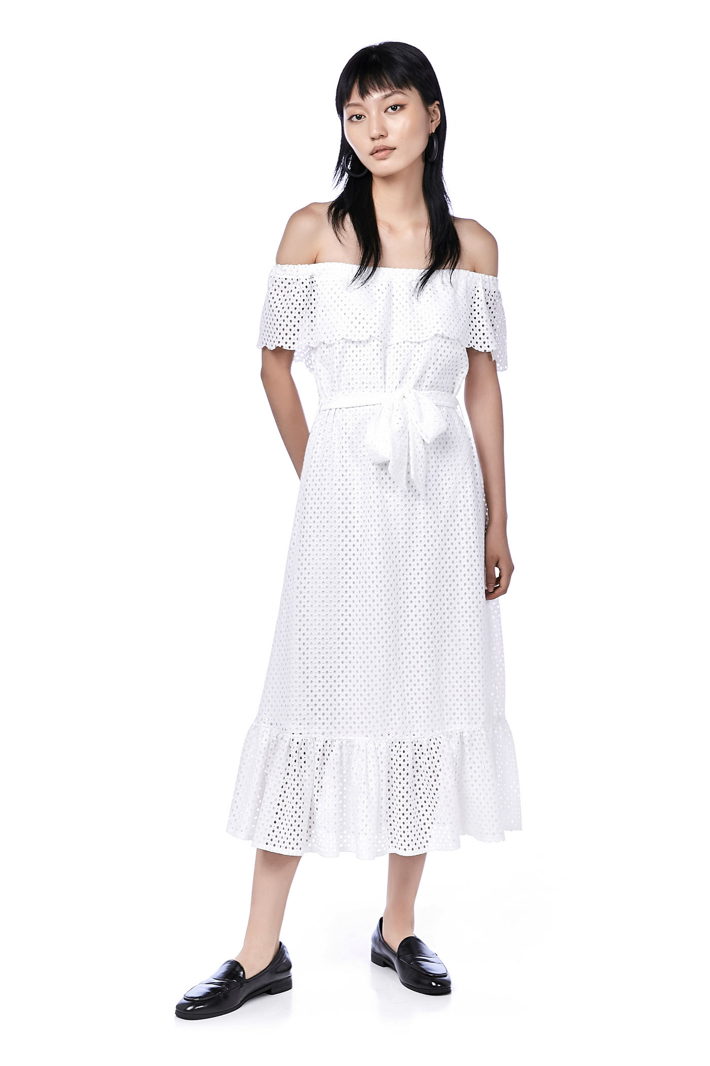 Tyisha Eyelet Midi Dress
