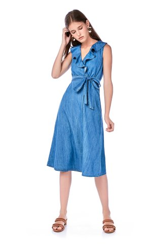 Jesse Ruffle Wrap Dress