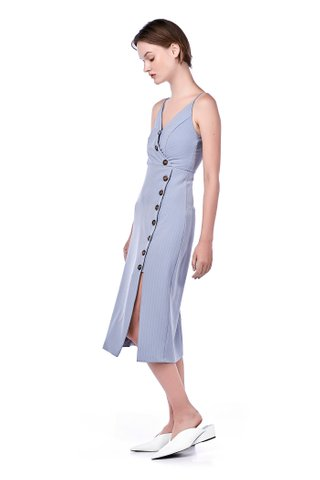 Nevaeh Button-Down Midi Dress