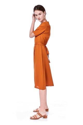 Caira Pleated Shift Dress