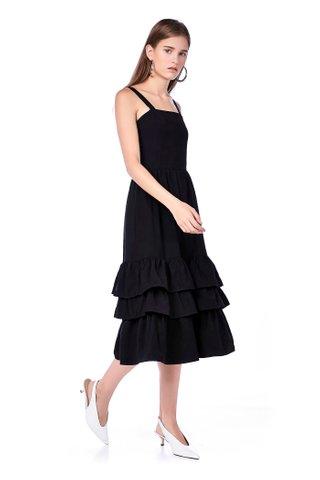 Damira Tiered-hem Midi Dress