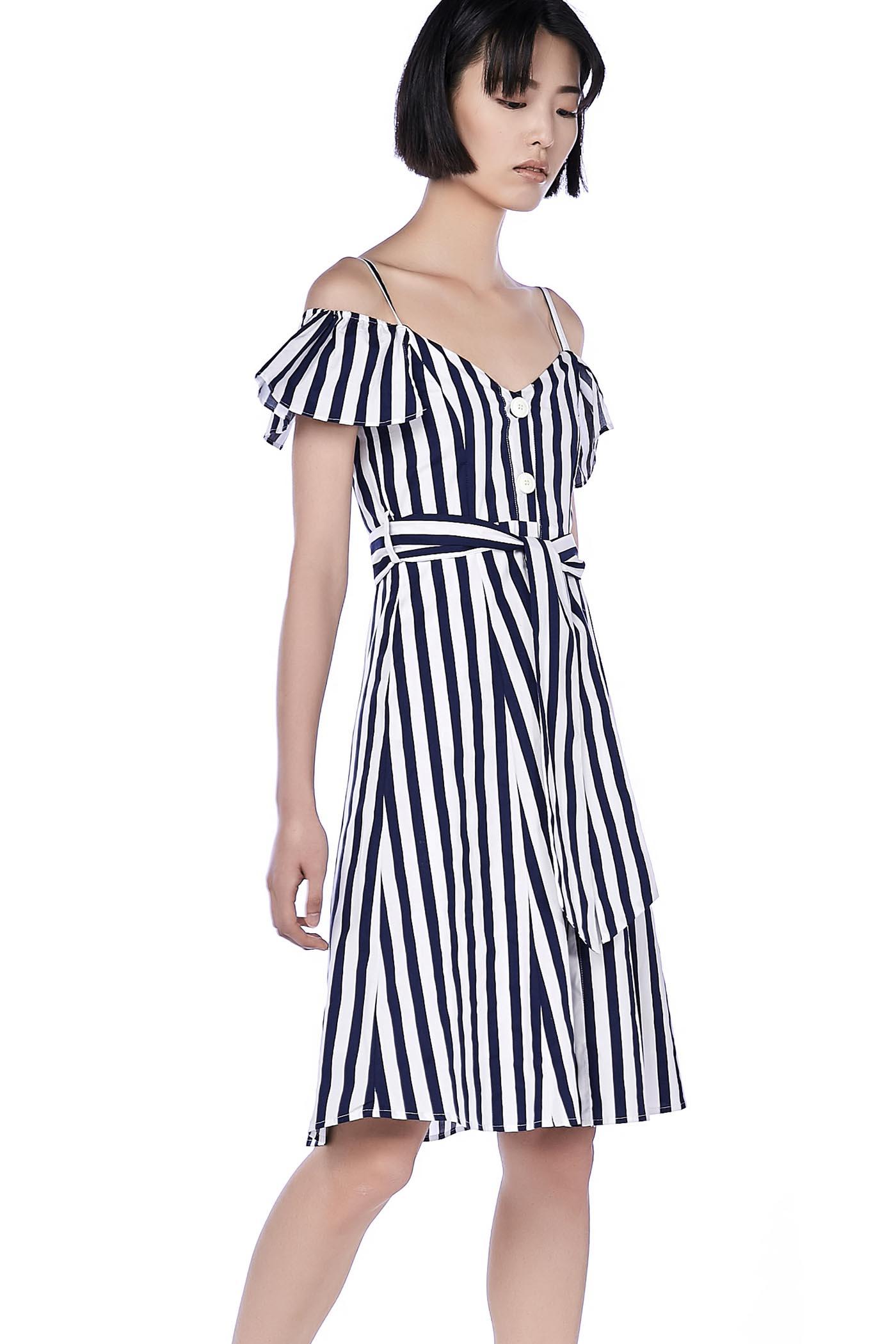 Lynne Cold-Shoulder Dress
