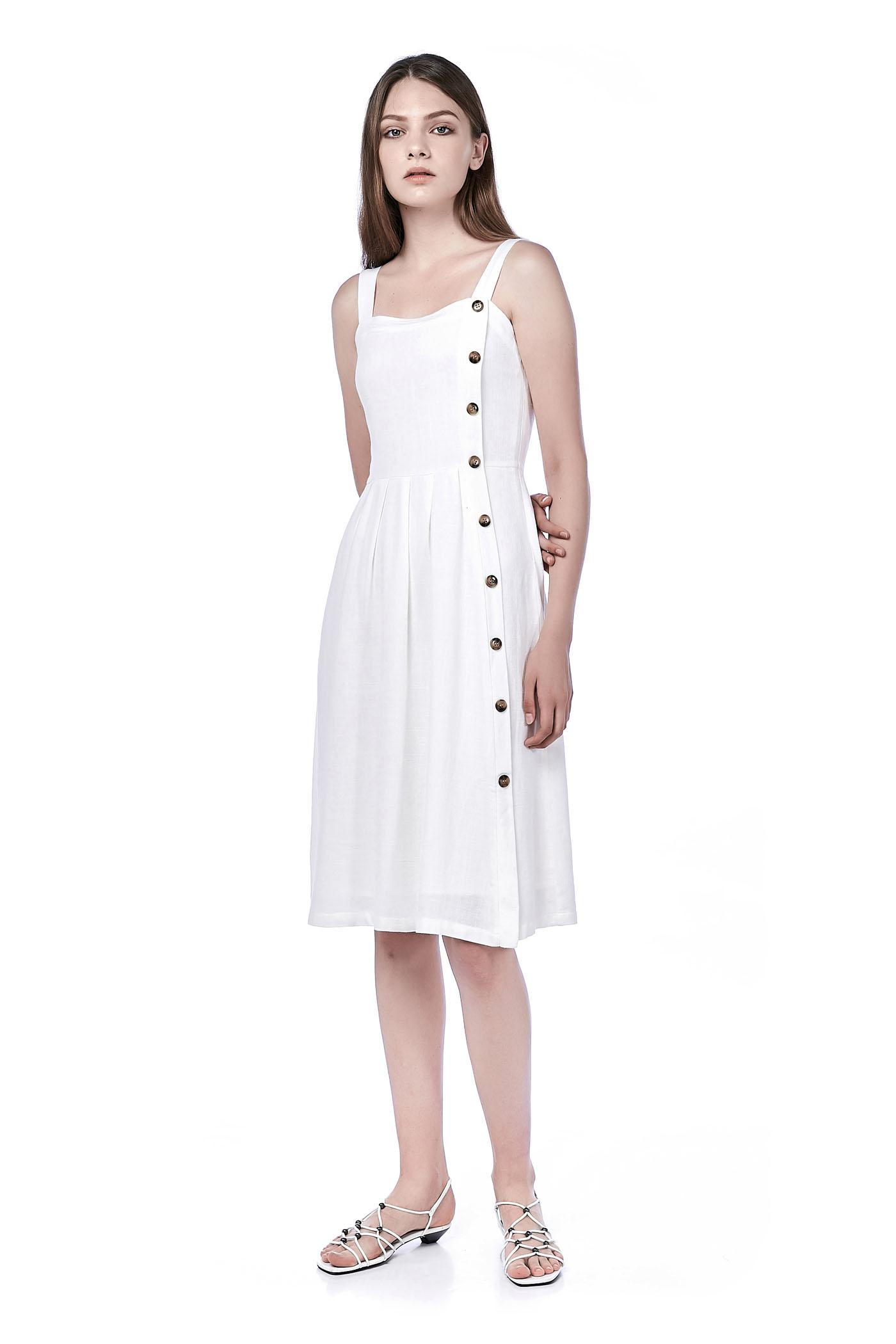 Charya Bib Midi Dress