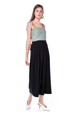 Masha Front-Pleat Pants