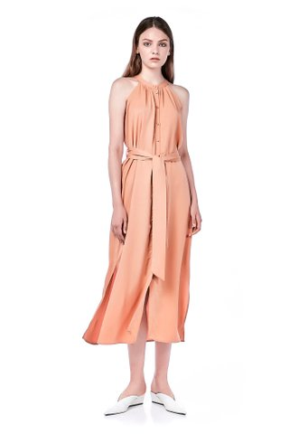 Herlina Ring-Neck Maxi Dress