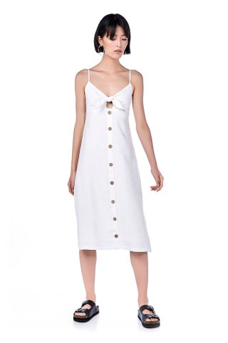 Daisy Front-Tie Midi Dress