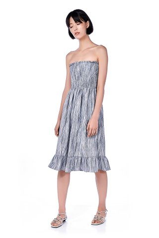 Sheris Smock Bandeau Midi Dress