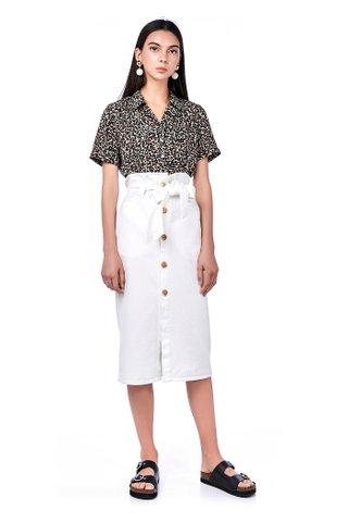 Harlia Paperbag Midi Skirt