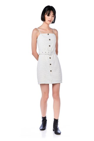 Monny Belted Gingham Dress