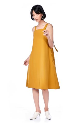 Melda Back-Tie Midi Dress