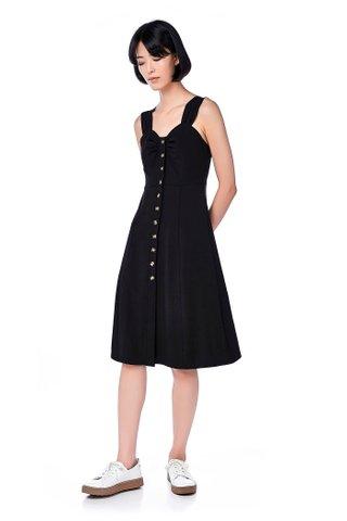 Cyndel Button-Through Midi Dress
