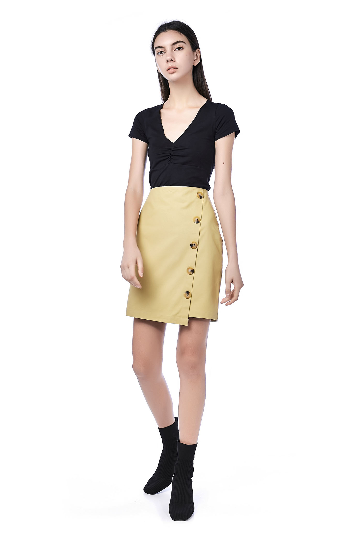 Kyo Button-Down Skirt