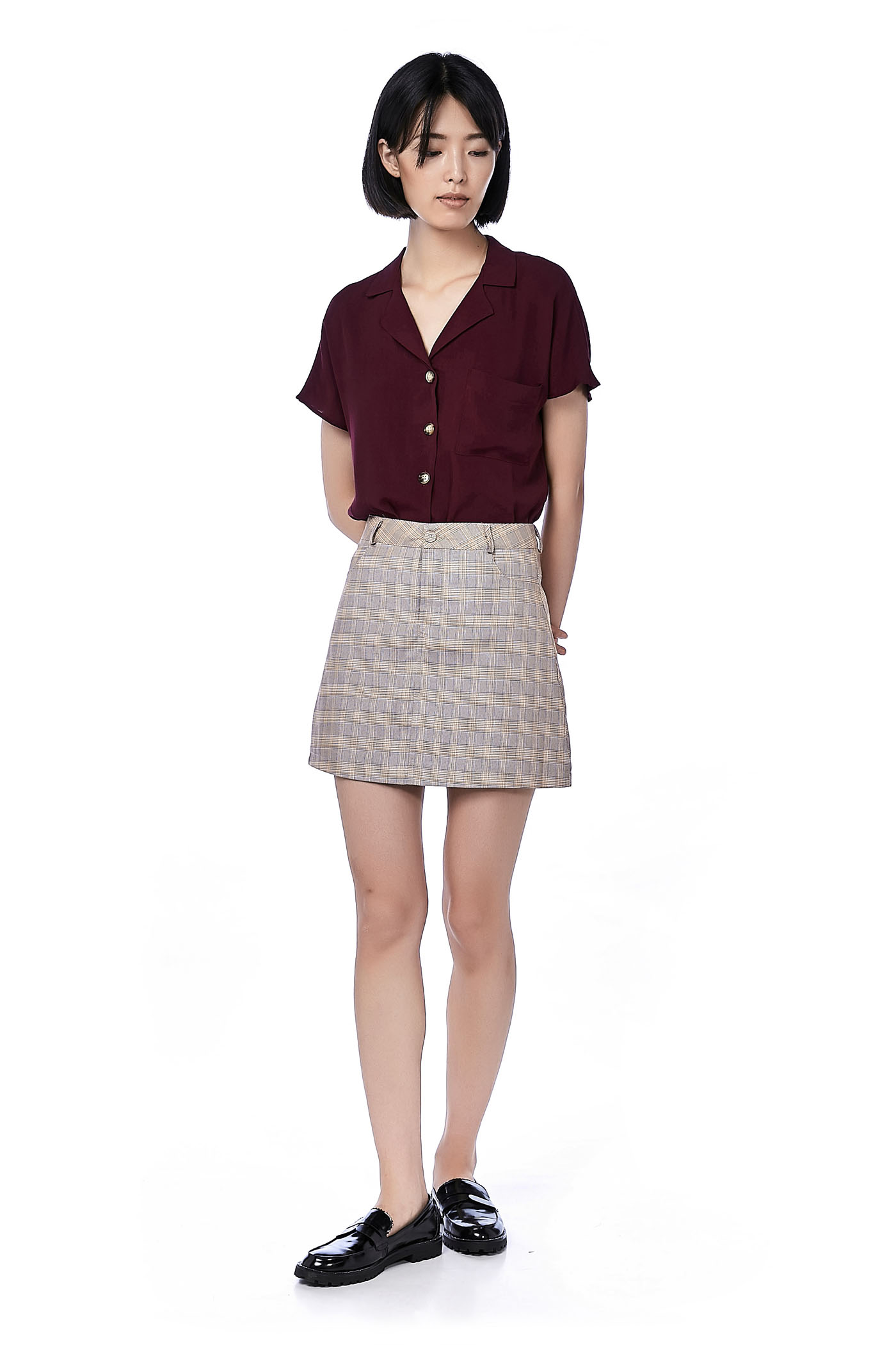 Henley Collared Blouse