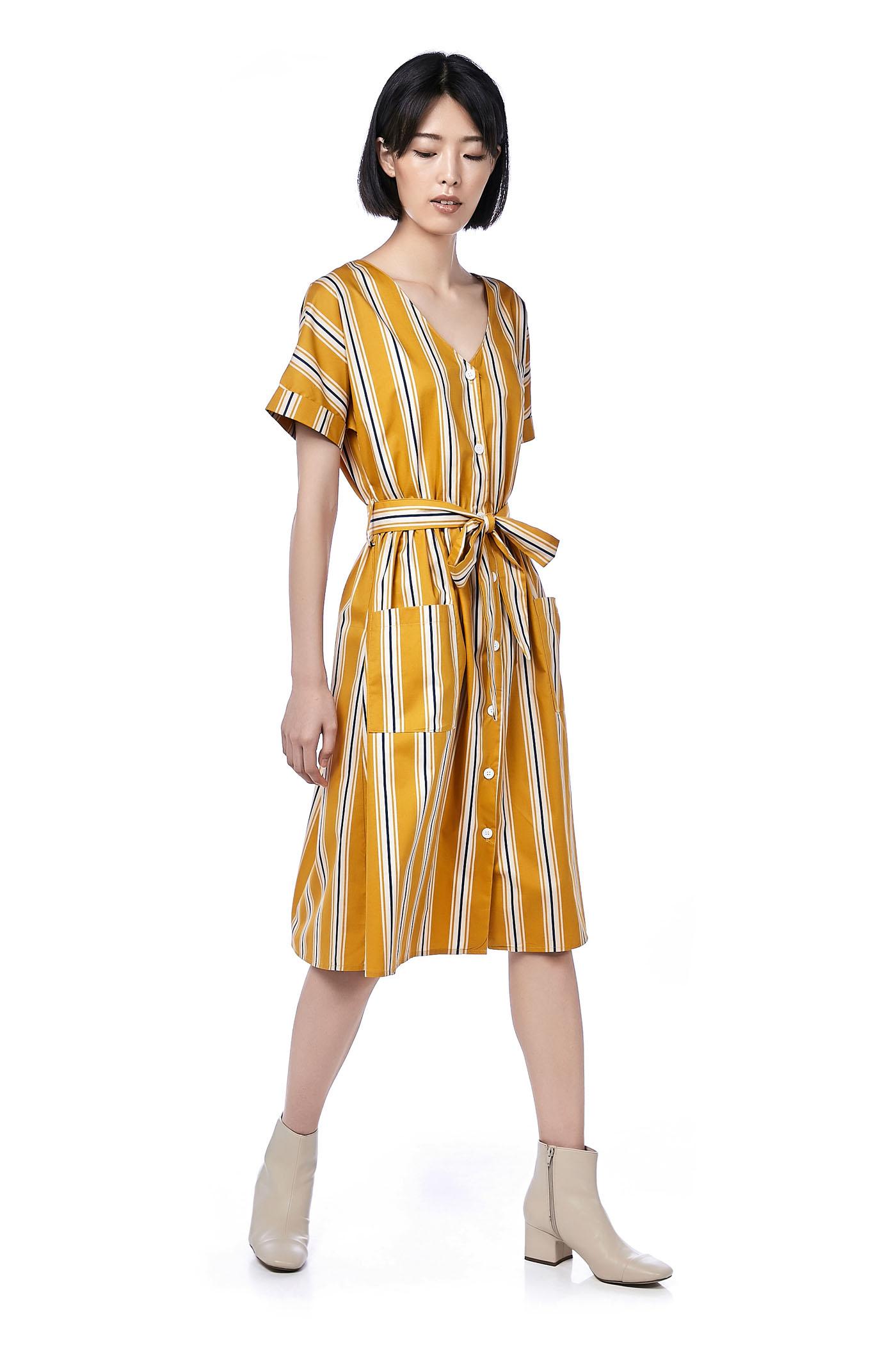 Fernanda Stripe Midi Dress