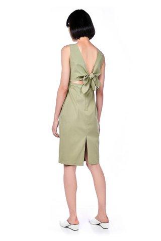 Jones Back-Tie Midi Dress