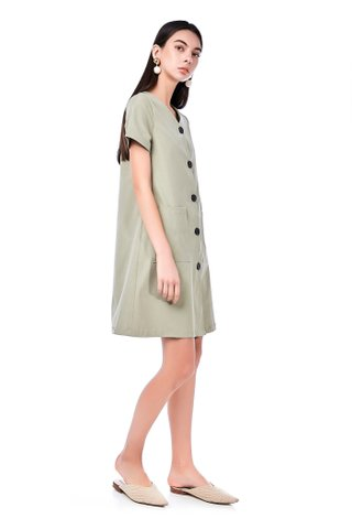 Mayre Button-Through Dress