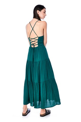 Gigi Lace-Up Maxi Dress