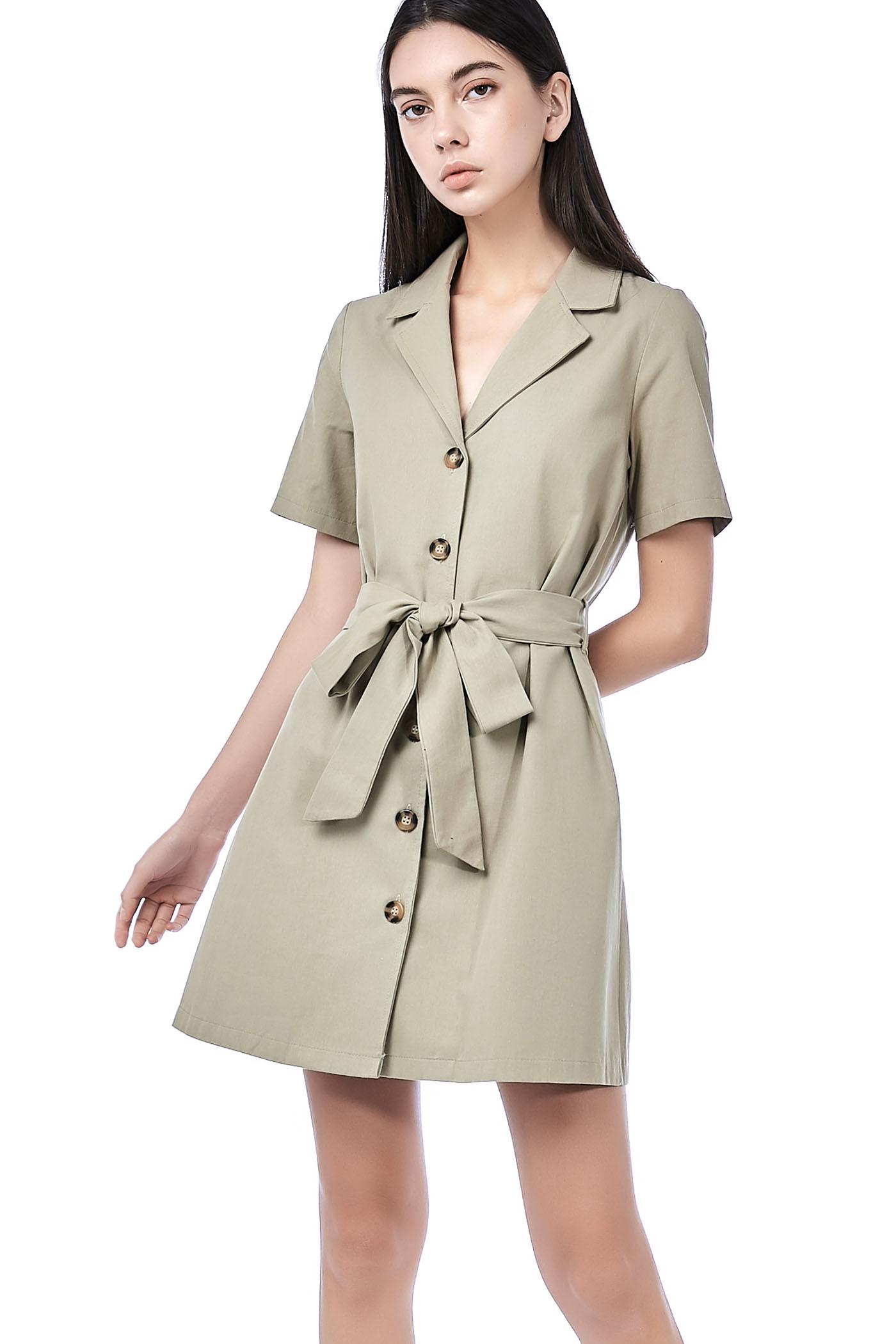 Mia Belted Midi Dress