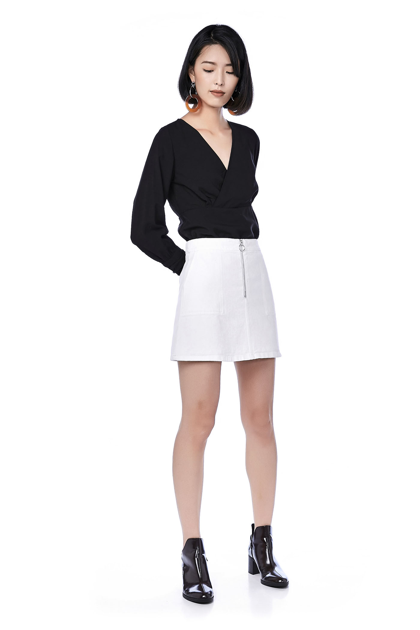 Winnie Zip Up Mini Skirt