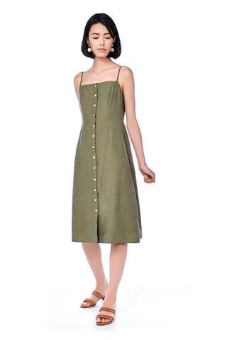 Maika Button-Through Midi Dress
