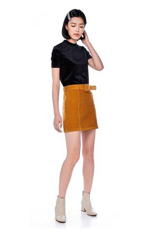 Ekali Belted Corduroy Skirt