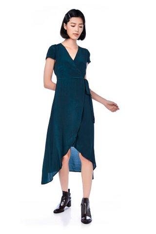 Elley Overlap Midi Dress