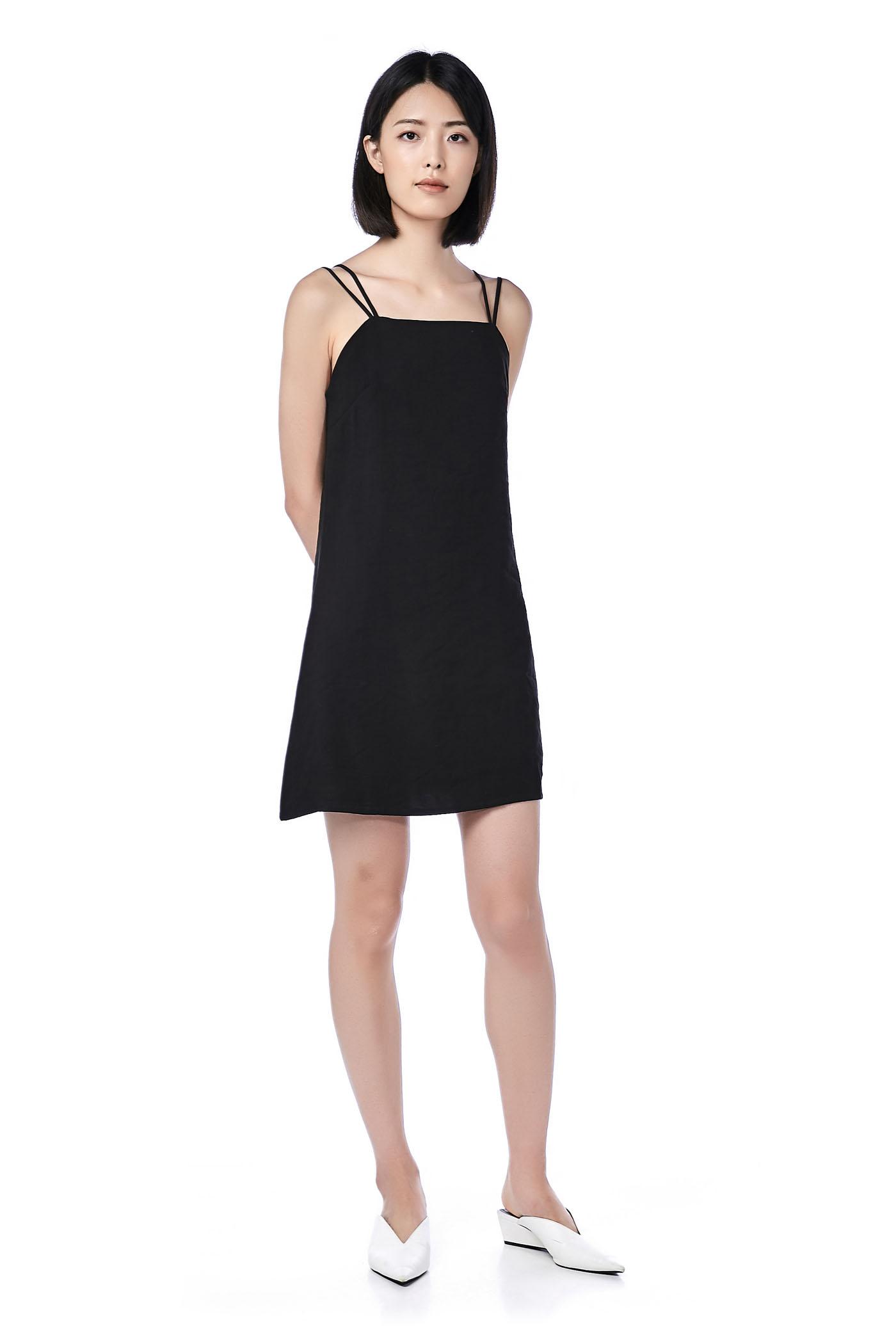 Linnie Double Strap Bib Dress