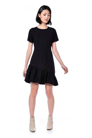 Riah Ruffle-Hem Dress