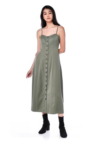 Koozel Button-Through Maxi Dress