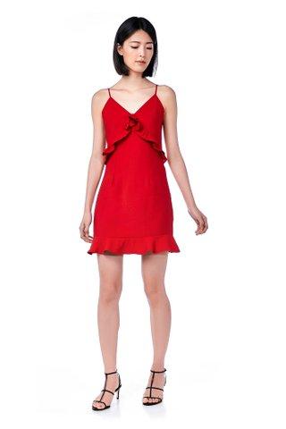 Alondra Frill-Trim Mini Dress