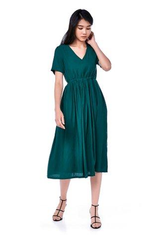 Arfen Ruched Midi Dress