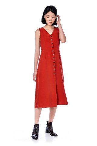 Mirabel Button-Through Maxi Dress