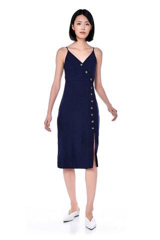 Miraya Button-Down Midi Dress