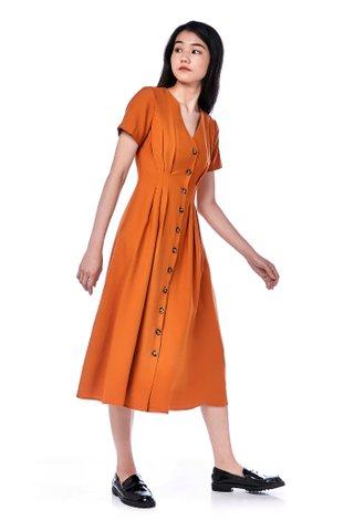 Ifea Tuck-Seam Midi Dress