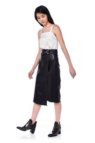 Leanor Asymmetrical Belted Skirt