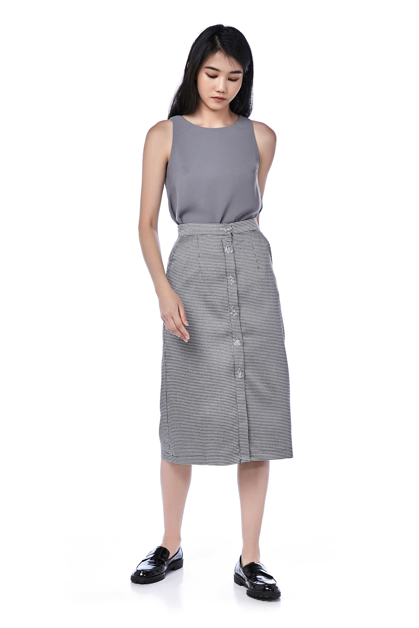 Marleen Button-Down Midi Skirt